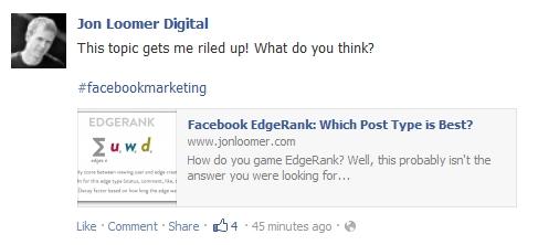 Jon Lomer Facebook Edgerank